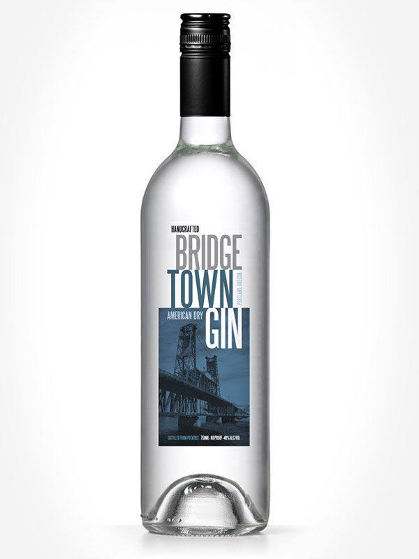 Bridgetown Gin label  by Deluxe Creative Co.
