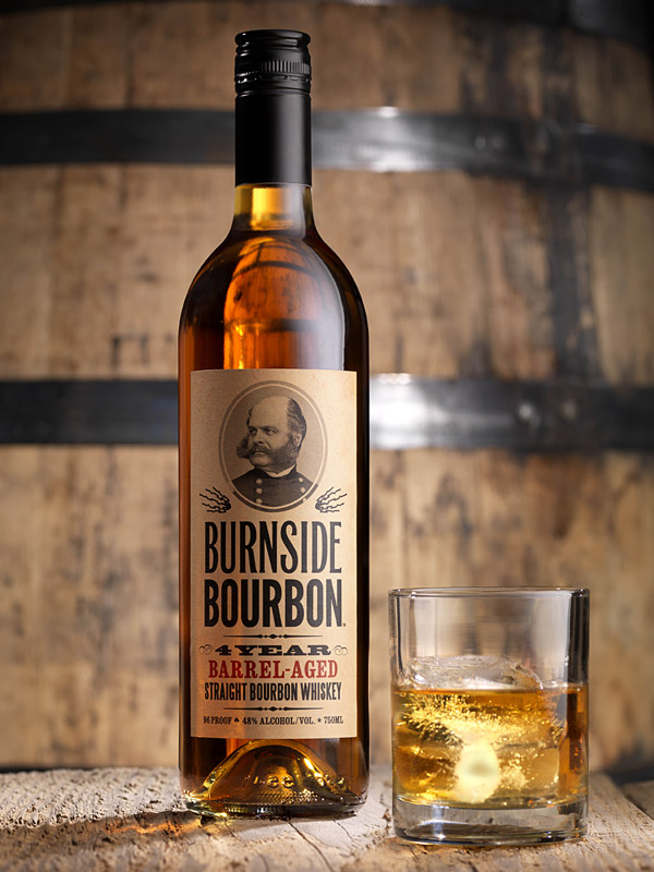 Burnside Bourbon label  by Deluxe Creative Co.