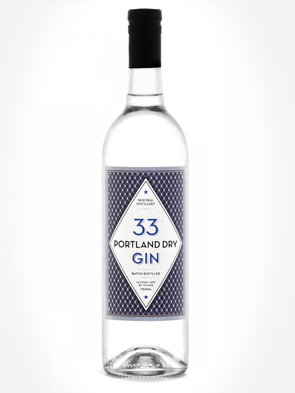 New Deal Gin 33 label  by Deluxe Creative Co.