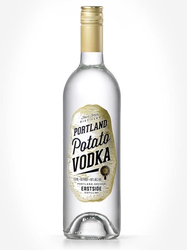Portland Potato Vodka label  by Deluxe Creative Co.