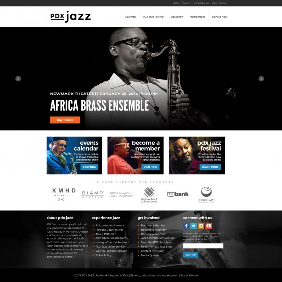 PDX Jazz Website
